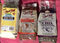 GiveAway - Bob's Red Mill - Quinoa Flour, Red Quinoa, and Chia Seeds