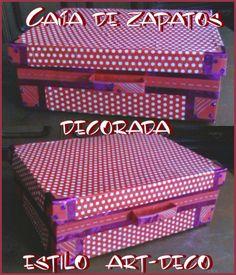 Con jeans caja de zapatos decorada diy upcycling - Como adornar una caja de zapatos ...