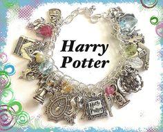 Harry Potter Jewelry Charm Bracelet Silver by princessofscraps, $35.99