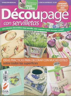 DECOUPAGE: Ideas prácticas para decorar con mucho estilo; cojines, juegos de…