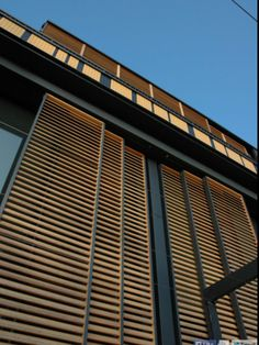 Image from residential villa Artes by AA KULTURA in Portorož, Slovenia. Facade Design, Exterior Design, Interior And Exterior, Exterior Shutters, Outdoor Rooms, Modern House Design, Architecture Details, Wooden Architecture, House Architecture