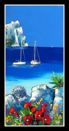 peinture tableau paysage tunisie - Recherche Google ...