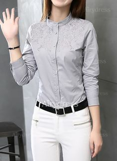38 Shirt Ideas for Women That Make you Look Charmy Office Outfits, Stylish Outfits, Fashion Wear, Fashion Outfits, Formal Shirts, Professional Outfits, I Dress, Blouse Designs, Latest Fashion Trends