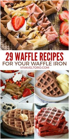 Breaking out the waffle iron this weekend! These sweet waffle recipes will be a hit.