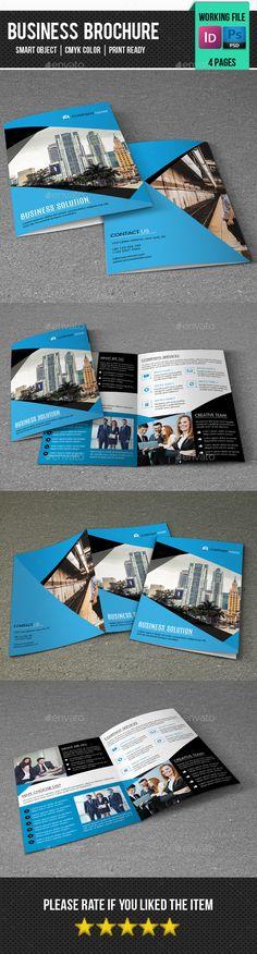 Corporate Bifold Brochure Template PSD, INDD #design Download: http://graphicriver.net/item/corporate-bifold-brochurev327/14052141?ref=ksioks