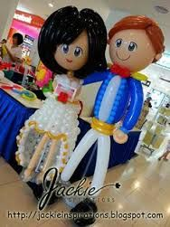 Balloon decorations for weddings, birthday parties, balloon sculptures in Kuching and Sibu, Sarawak: City One Megamall Bridal Fair Balloon Stands, Balloon Display, Love Balloon, Birthday Balloon Decorations, Balloon Centerpieces, Wedding Decorations, Cowgirl Party, Balloon Animals, Wedding Balloons