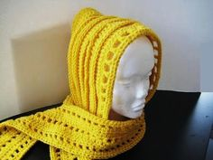 Crochet Dreamz: Aesthetic Hooded Scarf (Free Crochet Pattern)