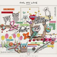 I am huge owl lover and decided it was high time I played around with the theme…