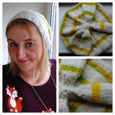 Wearing my finished hat - I used #yarnstories merino and #ovisyarns yellow rattle roving. It is so warm.