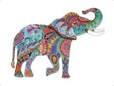 Colorful Elephant painting Elephant art Elephant home decor Elephant Colour, Colorful Elephant, Elephant Art, Elephant Tattoos, Animal Tattoos, Elephant Paintings, Watercolor And Ink, Watercolor Paintings, Tattoo Watercolor