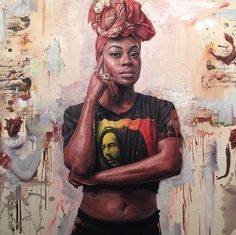 A-I want one of Tim Okamura's gorgeous paintings of Black women.