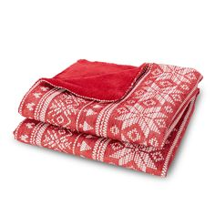 This red throw has a chenille Scandinavian style snowflake pattern on one side with a red plush fleece reverse. It is perfect for adding some festive style to your home and ideal for snuggling up with on cold winter nights. Fluffy Cushions, Scandi Christmas, Red Throw, Snowflake Pattern, Winter Night, Scandinavian Style, Festival Fashion, Festive, Plush