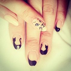 Cat nails for fashion week event;) More cat nails coming soon! Cat Nail Art, Cat Nails, Nail Art Diy, Different Types Of Nails, Lady Fingers, Tough As Nails, Cat Face, All Things Beauty, Nails Inspiration