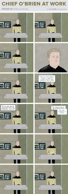 The Most Depressing Job On The Starship Enterprise - chief o'brian