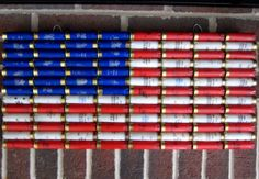 Shotgun Shell American Flag 22 x 10.5 Patriotic by ReadyAimCraft, $53.00