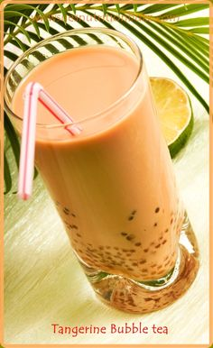 Make your own Tangy Tangerine Bubble Tea ! Super Easy & Healthy too !