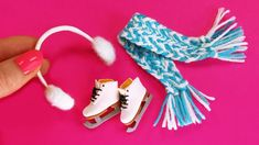 Miniature ice skates for dolls | winter accessories for dolls ✿ DIY - Ir...