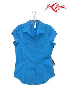 Blusa camisera - manga corta - dama