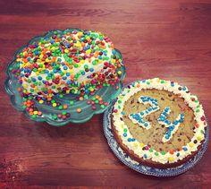 Little brothers 24th birthday! #homemade #glutenfree #glutenfreefollowme #glutenfreelife #glutenfreebaking #24 #cake #cookie #cookiecake #icing #chocolate #vanilla #birthday #happybirthday #yummy #love #glutenfreenyc #florida #sogood by natalieandjessicashtark