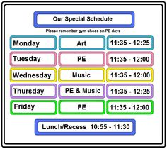 Teacher Schedule Template: The teachers can use this schedule ...