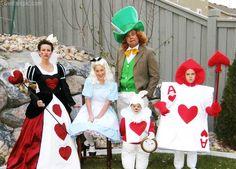 Alice in Wonderland family costumes family party kids halloween costumes adult costumes family costumes