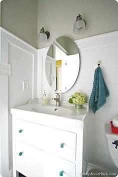Ikea Hemnes Vanity 380 Moen Faucet 90 HD Mirror 40