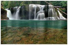 Waterfall - Lower Lewis Falls from below by *La-Vita-a-Bella on deviantART