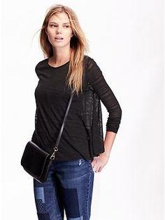 Women's Shadow-Stripe Sweater-Knit Tops | Old Navy
