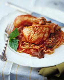 Per serving: 599 calories, 9 g fat, 151 mg cholesterol, 61 g carbs, 573 mg sodium, 59 g protein, 6 g fiber