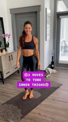 Fitness Workouts, Gym Workout Tips, Fitness Workout For Women, Butt Workout, Workout Videos, At Home Workouts, Monthly Workouts, Fitness Motivation, Inner Thight Workout