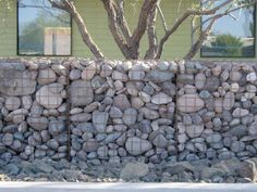 Gabion Fencing | Musings  modernization of the old field stone wall of new england and old world europe