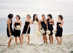 Posh Pink and Black Wedding at the Casa Monica Hotel | Black ...