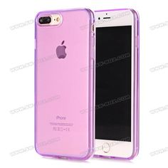 Soft Transparent TPU Case Cover for iPhone 7 Plus 5.5 inch - Purple