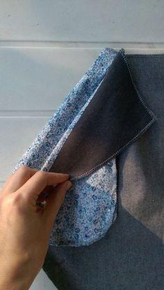 L'Audacieuse Mlm patrons : pas à pas montage des poches Plus