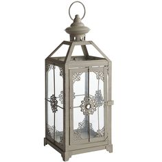 Medium Jeweled Lantern - Gray