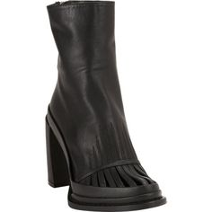 Ann Demeulemeester Cutout-Vamp Platform Ankle Boots Sale up to 70% off at Barneyswarehouse.com