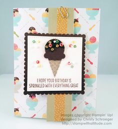 Here's a fun Birthday card using a Z-Fold Technique - Visit my blog for more details:  http://wp.me/p3Lj5D-E94