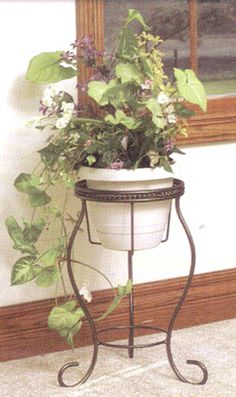 Wrought Iron Bronze Plant Stand
