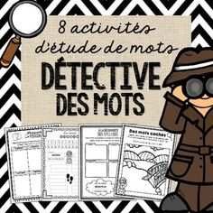 Be a Word Detective! These Detective Word Work Activities will certainly motivate your students to learn their high-frequency words! ********************************************************* Looking for more Word Work Activities? French Teaching Resources, Teaching French, Teaching Tools, Word Work Activities, Writing Activities, French Practice, Detective, Spring Words, French Language Lessons