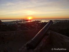 Fort cannon at sunrise