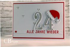 Stampin Up Demonstratorin Bremen, Verpackung, Geburtstag, Hochzeit, Briefmarke . Christmas Cards 2017, Stamped Christmas Cards, Stampin Up Christmas, Christmas Greeting Cards, Christmas And New Year, Greeting Cards Handmade, Holiday Cards, Baby Scrapbook, Scrapbook Cards