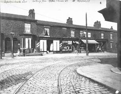 Tram lines from Upper Conran St onto Moston Lane 1907