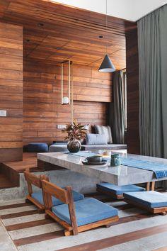 Gallery of MD Apartment / Saransh - 35 Best Interior Design, Home Design, Interior Decorating, Home Decor Furniture, Furniture Design, Open Floor House Plans, Floor Sitting, Indian Interiors, Design Living Room