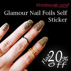 Confuse about nail paint color this wedding season. Give yourself a new look with our Nail Sticker and get Flat #Discount. Visit: http://bit.ly/1w4LHX9 #Nail_Sticker #Nail_Polish #Nail_Paint #Khoobsurati