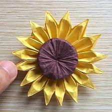 Sunflower Origami flowers Origami flowers handmade tutorial