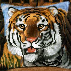 Набор для вышивания подушки Vervaco  Вервако Тигр 1200-629