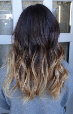 Dark to Brunette Ombre Hair. An example of what I would not like for me but Im sure is great on so many other people. Contrast appears to abrupt for me.