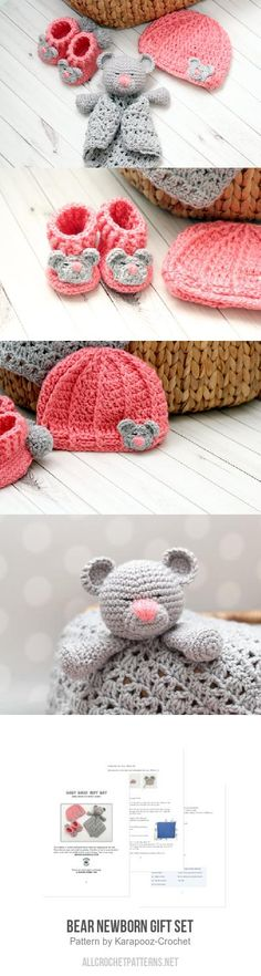 Bear Newborn Gift Set Crochet Pattern