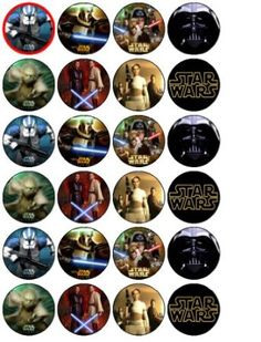 Amazon.com: 24 Star Wars Cupcake Wafer Toppers: Kitchen & Dining