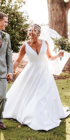 33 Plus-Size Wedding Dresses: A Jaw-Dropping Guide ❤ plus size wedding dresses v neckline a line lace top country morilee wedding dress simple 36 Plus-Size Wedding Dresses: A Wow Guide Aline Wedding Dress Lace, Plus Size Wedding Gowns, Wedding Dresses With Straps, Rustic Wedding Dresses, Sweetheart Wedding Dress, Best Wedding Dresses, Bridal Dresses, Plus Size Dresses, Lace Dresses